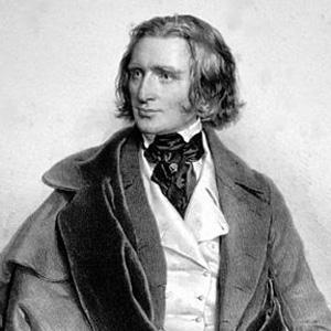 Pianist Franz Liszt - age: 74