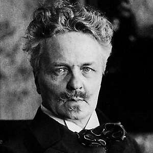 Playwright August Strindberg - age: 63