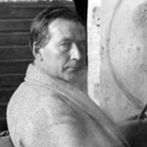 Sculptor Einar Jonsson - age: 80