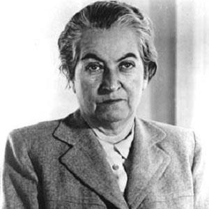 Poet Gabriela Mistral - age: 67
