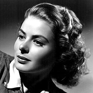 Movie actress Ingrid Bergman - age: 67