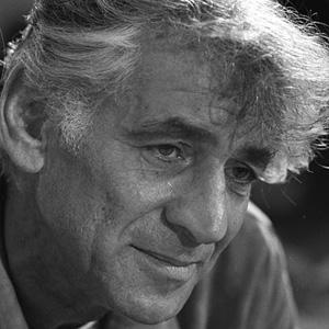 Composer Leonard Bernstein - age: 72