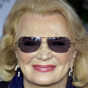 Movie actress Gena Rowlands - age: 91