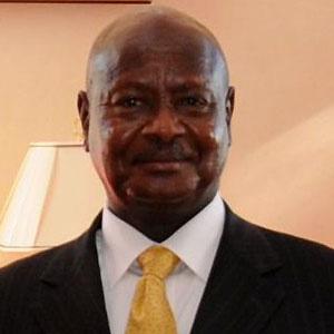 Politician Yoweri Museveni - age: 76