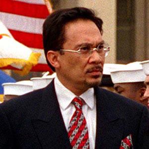 Politician Anwar Ibrahim - age: 74