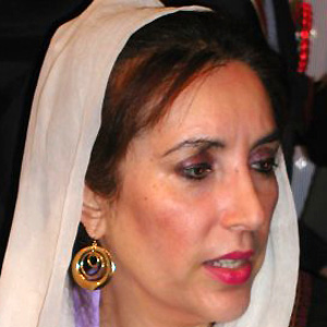 World Leader Benazir Bhutto - age: 54