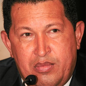 Politician Hugo Chavez - age: 58