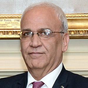 Politician Saeb Erekat - age: 65