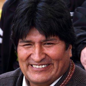 Politician Evo Morales - age: 57