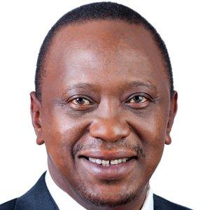 World Leader Uhuru Kenyatta - age: 55
