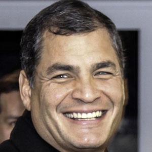 Politician Rafael Correa - age: 57