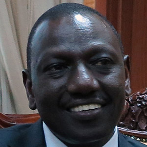 Politician William Ruto - age: 50