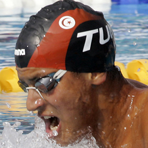Swimmer Oussama Mellouli - age: 36