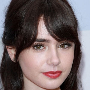 Movie actress Lily Collins - age: 31