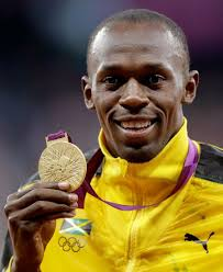 Track and field athlete Usain Bolt - age: 30