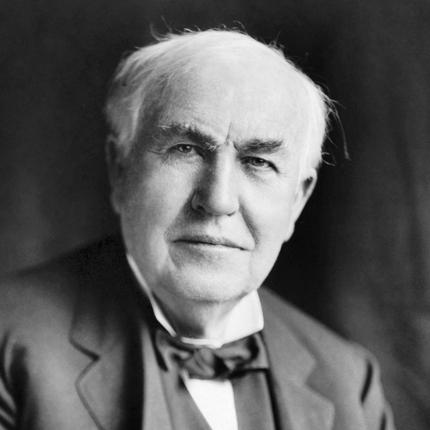 Inventor Thomas Edison - age: 84