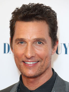 Actor, Producer Matthew McConaughey - age: 47