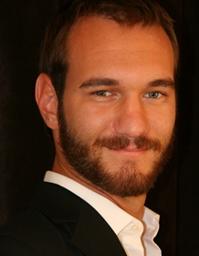 Motivational speaker Nick Vujicic - age: 34