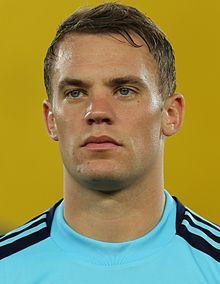 Football player Manuel Neuer - age: 31