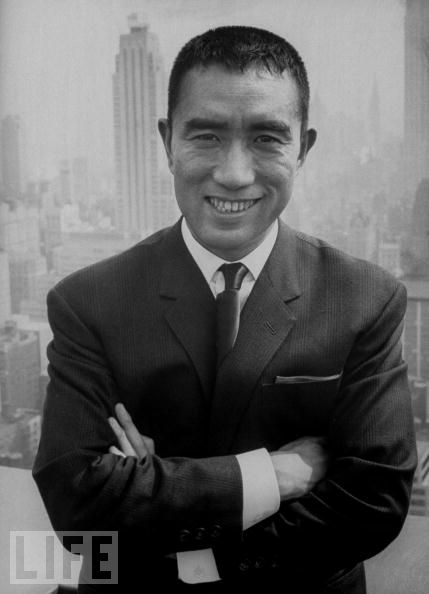 Author Yukio Mishima - age: 45