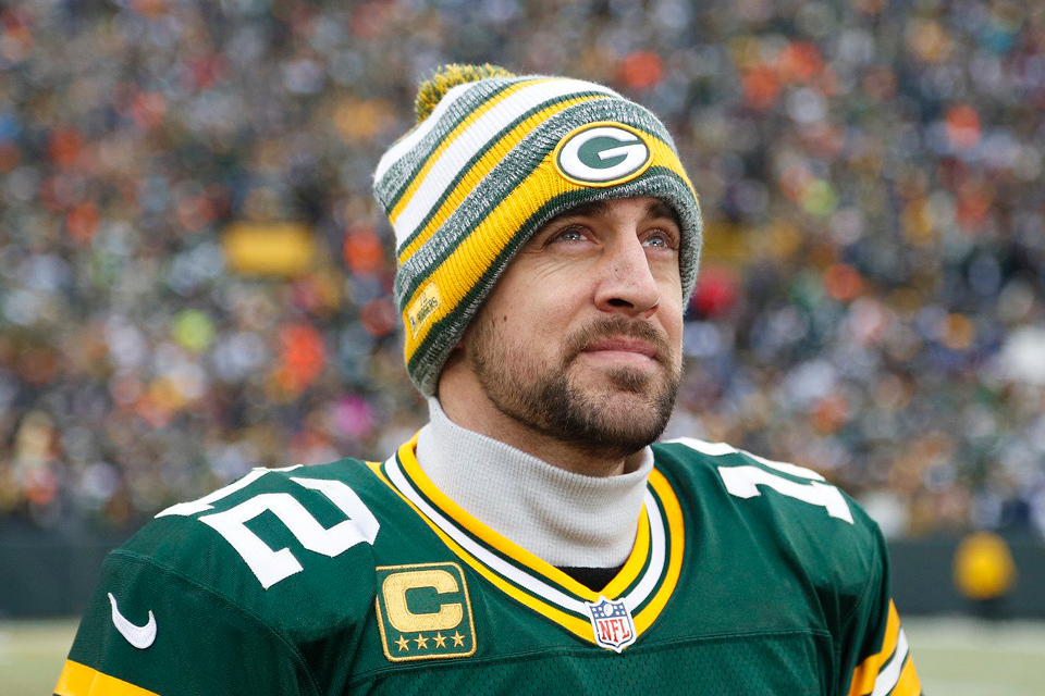 Football player Aaron Rodgers - age: 37