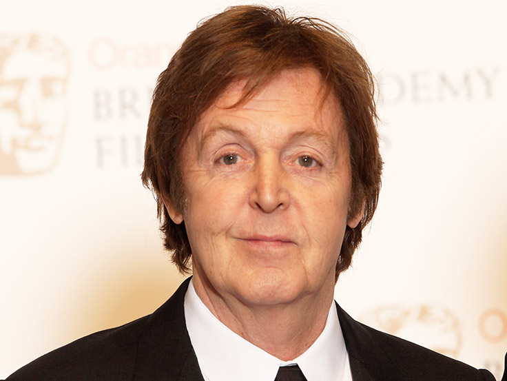 Singer Paul McCartney - age: 2