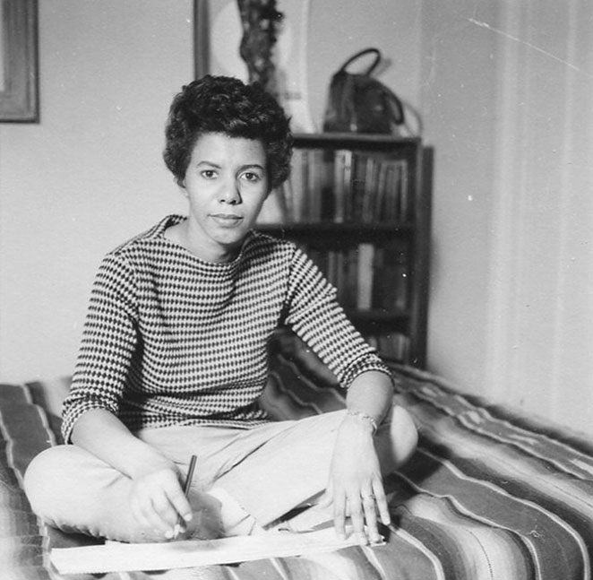 Playwright Lorraine Hansberry - age: 34